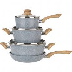 Keramik-Koch- und Bratset im Granit-Design 7-tlg. Set