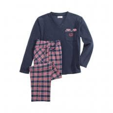 Herren-Fleece-Pyjama