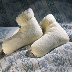 Bettschuhe aus Schafswolle