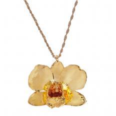Vergoldete, echte Orchidee