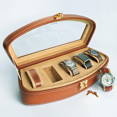 Uhrenkasten aus Leder-1