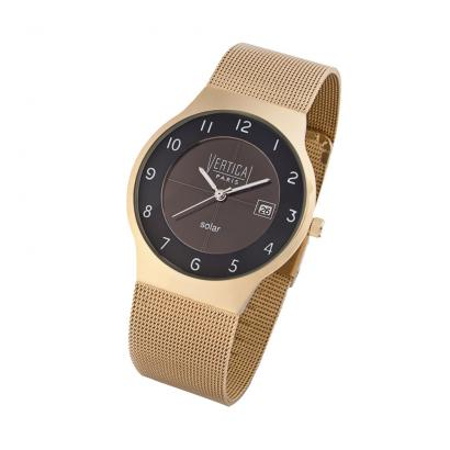 "Flache Solar-Armbanduhr ""Gold""-1"