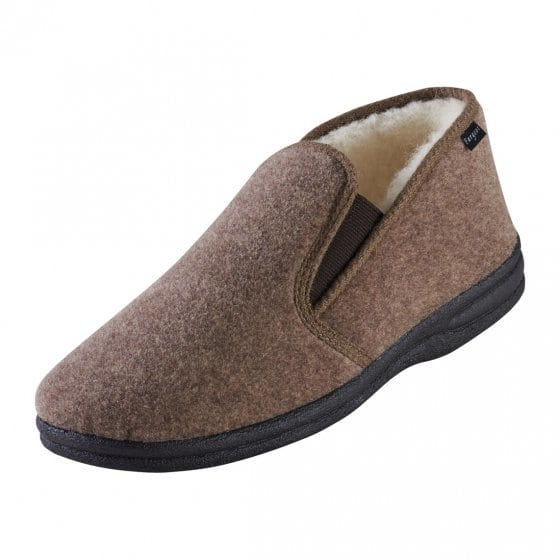 Lammwoll-Pantoffel 43 | Anthrazit