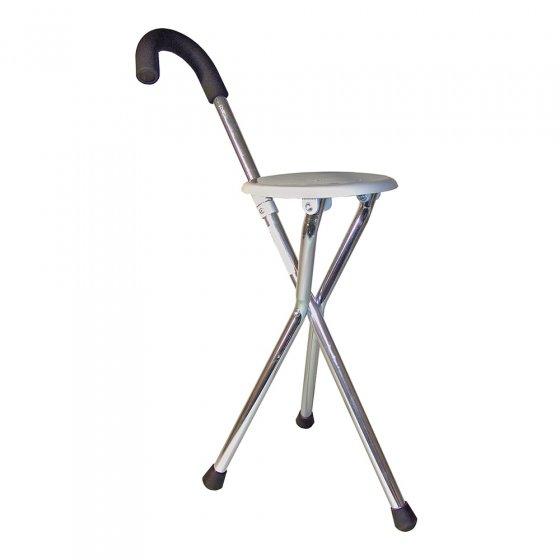 Gehstock mit Sitzfläche