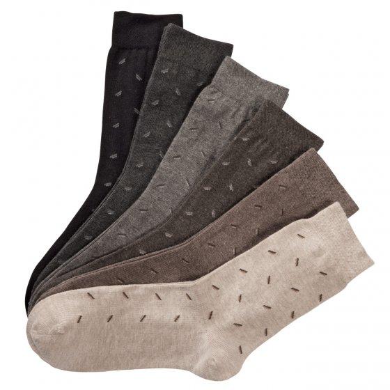 Gemusterte Komfort Socken - 6 Paar
