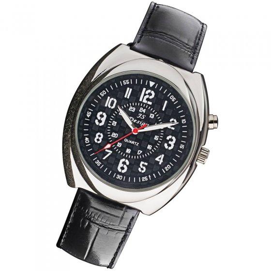 Ihr Geschenk: Design-Uhr mit Falschgeld-Detektor