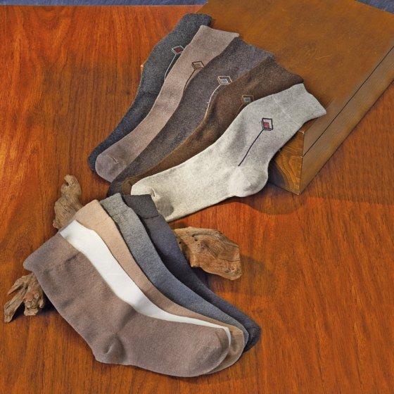 Venenfreundliche Socken - uni und gemustert - 5er Set