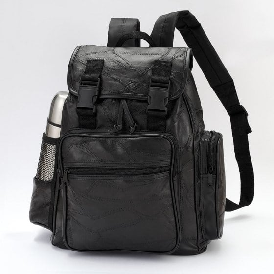 Patchwork-Rucksack aus Leder