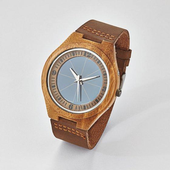 "Solar-Armbanduhr ""Bambus"""