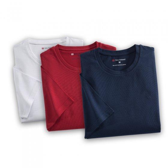 T-Shirt in Stretch-Qualität 3er-Set