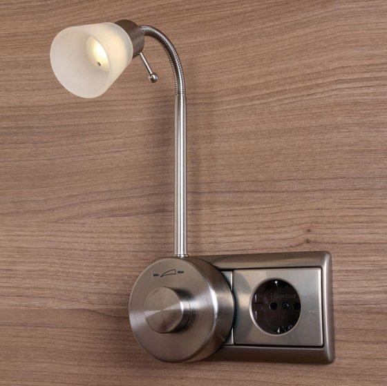 Dimmbare LED-Steckdosenleuchte
