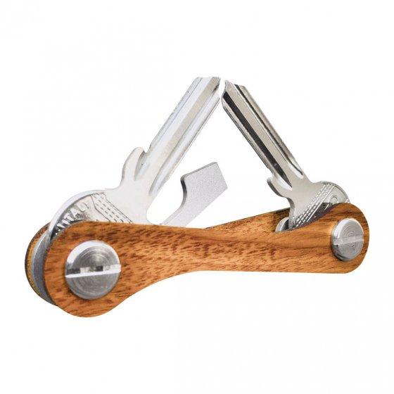 Schlüsselorganisierer aus Zebrano-Holz
