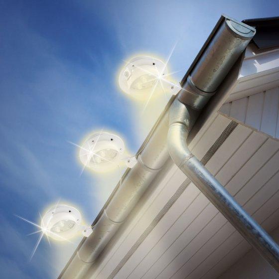 Sensor-Dachrinnenbeleuchtung