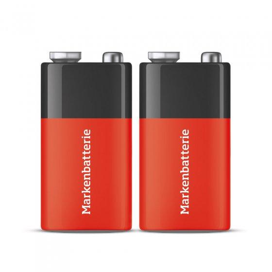 9 Volt Block-Batterien 2er Set