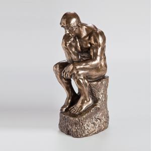 Bronzierte Skulptur: Der Denker