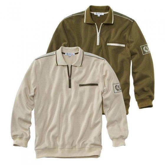 Sweater mit Zipperkragen - 2er Set