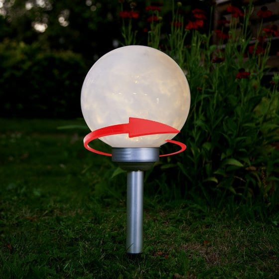 Rotierende LED-Solarleuchte