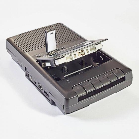 Tragbares Kassetten-Aufnahmegerät
