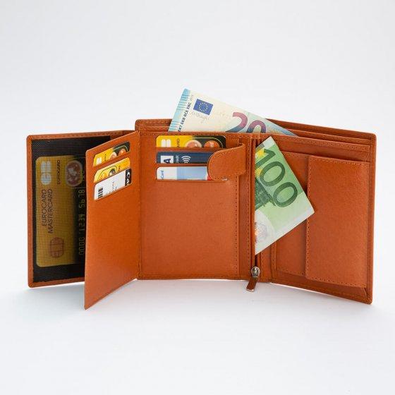 Sicherheitsgeldbörse aus Büffelleder