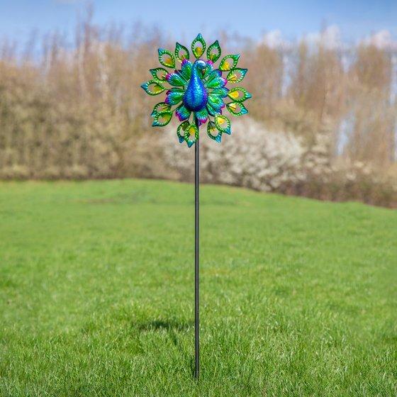 Solar LED Windrad Pfau