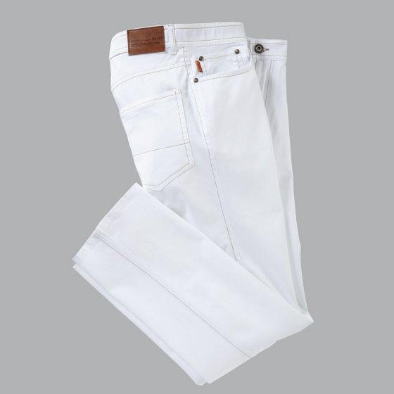 Leichte Fleckenabweis. Jeans 30 | Weiß