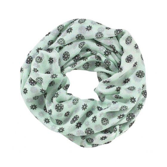 Loop-Schal mit Blumenmuster