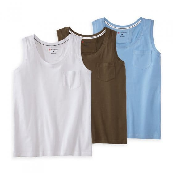 Baumwoll-Trägershirt 3er-Pack