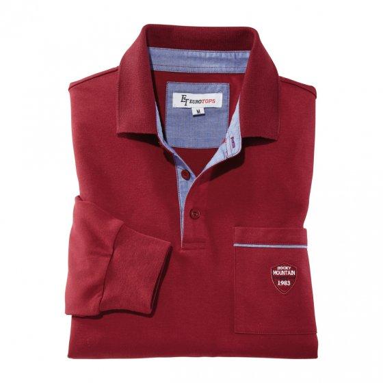 Interlock Langarmshirt,bordeau M   Bordeaux