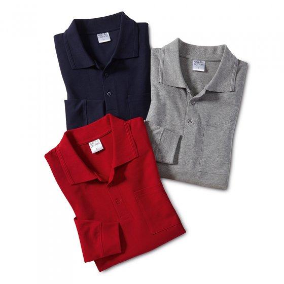 Pique-Poloshirt 3er Pack