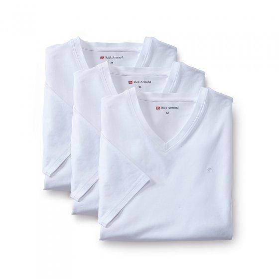 Stretch-T-Shirts 3er-Pack XL | Weiß