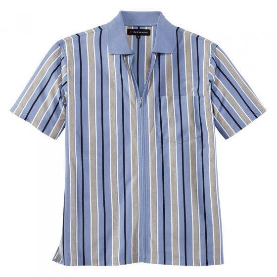 Jerseyshirt mit Ganzreißverschluss