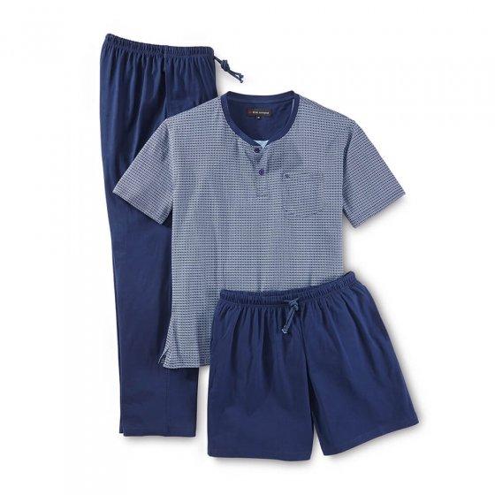 3-teiliger Jersey-Schlafanzug