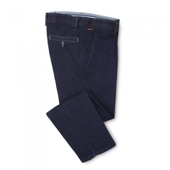 Doppelgefärbte Bundfalten-Jeans