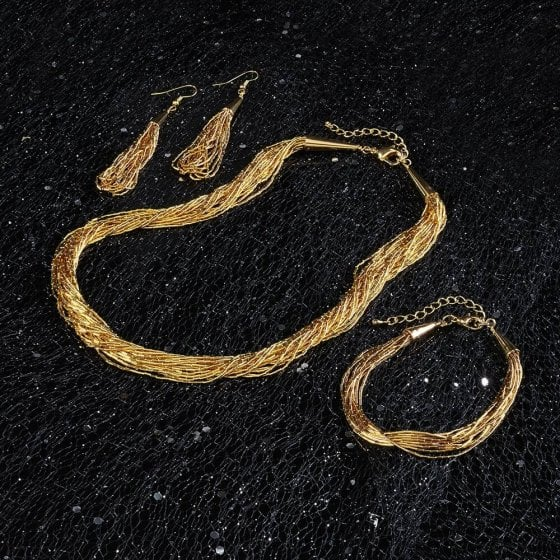 """Schmuckset """"Goldfluss"""" Armband"""