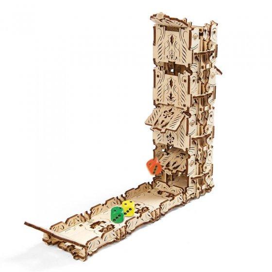 Holz-Würfelturm und -becher