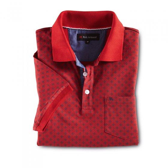 Poloshirt mit Allover-Druck