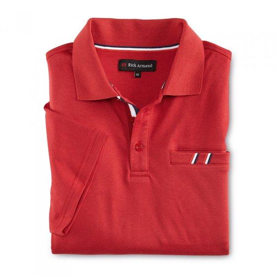Interlock Poloshirt, weiß+rot XXL | Weiß#Rot