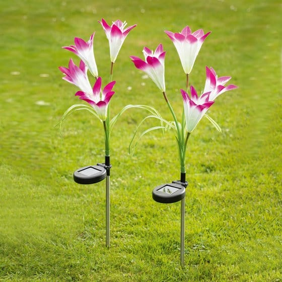 Solar LED-Blumen 2er-Set