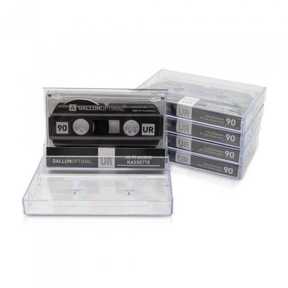 5er-Pack Audiokassetten 90 min