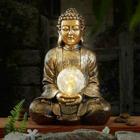 Solar Buddha mit Licht