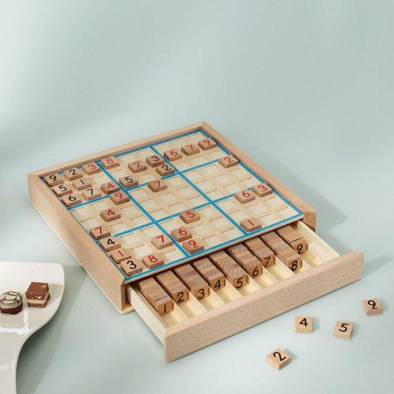 Klassisches Sudoku-Holzspielbrett