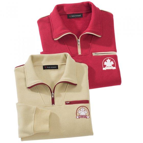 Polar-Sweater mit Brusttasche- 2er Set