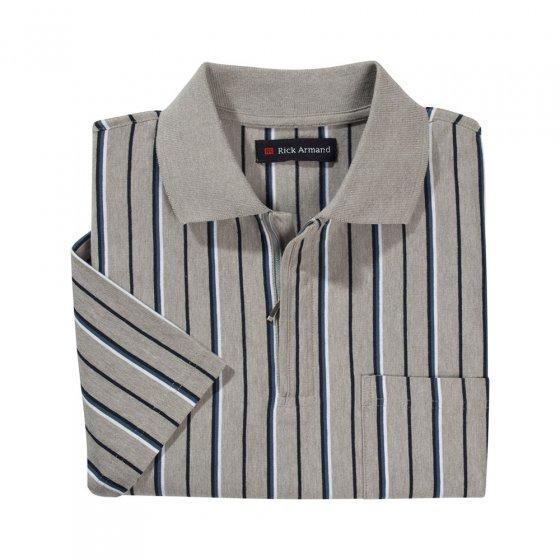 Poloshirt mit Reissverschluss