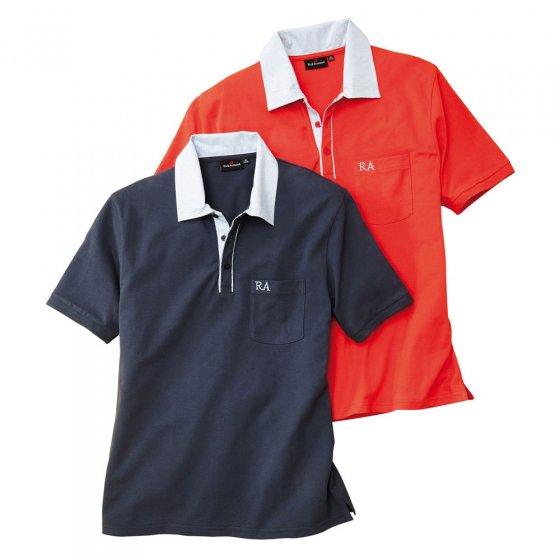 Piqué-Poloshirts im 2er-Pack