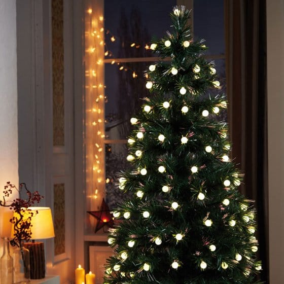 led weihnachtsbaum mit fiberoptik g nstig bei eurotops. Black Bedroom Furniture Sets. Home Design Ideas