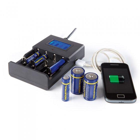 LCD-Batterieladegerät