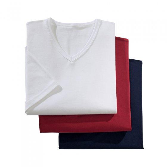 T-Shirts in Stretch-Qualität im 3er-Set