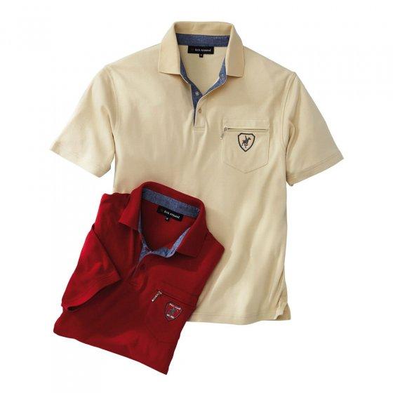 Interlock-Shirt mit Kontrastkragen