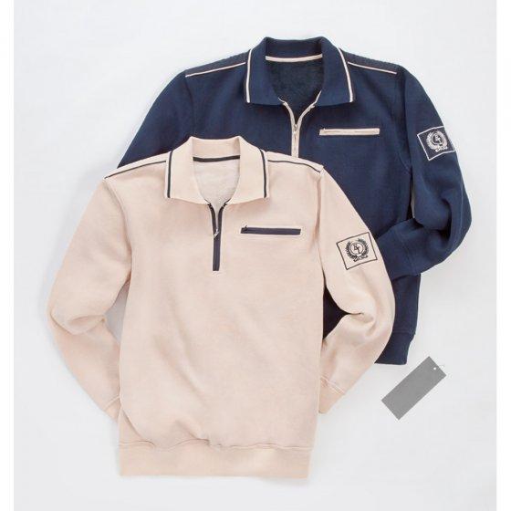 Sweater mit Zipperkragen - Set