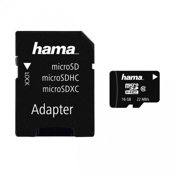 Speicherk.16GB MicroSDHC+Adap.